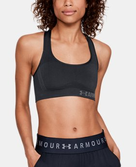 New to Outlet Women's UA Threadborne™ Crossback Solid Sports Bra  1  Color Available $30.99