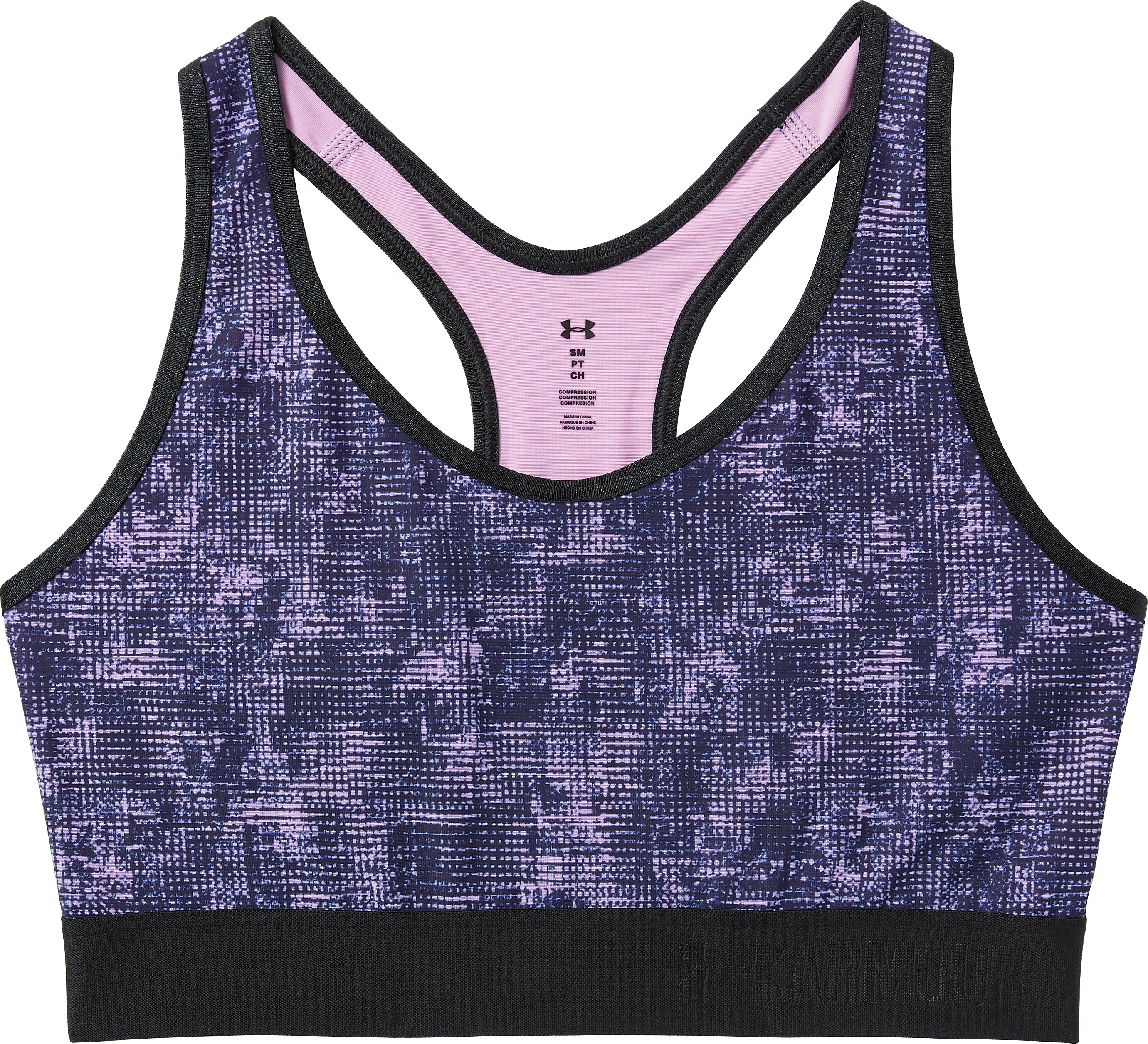 Women's Armour® Mid Sports Bra, ICELANDIC ROSE, undefined