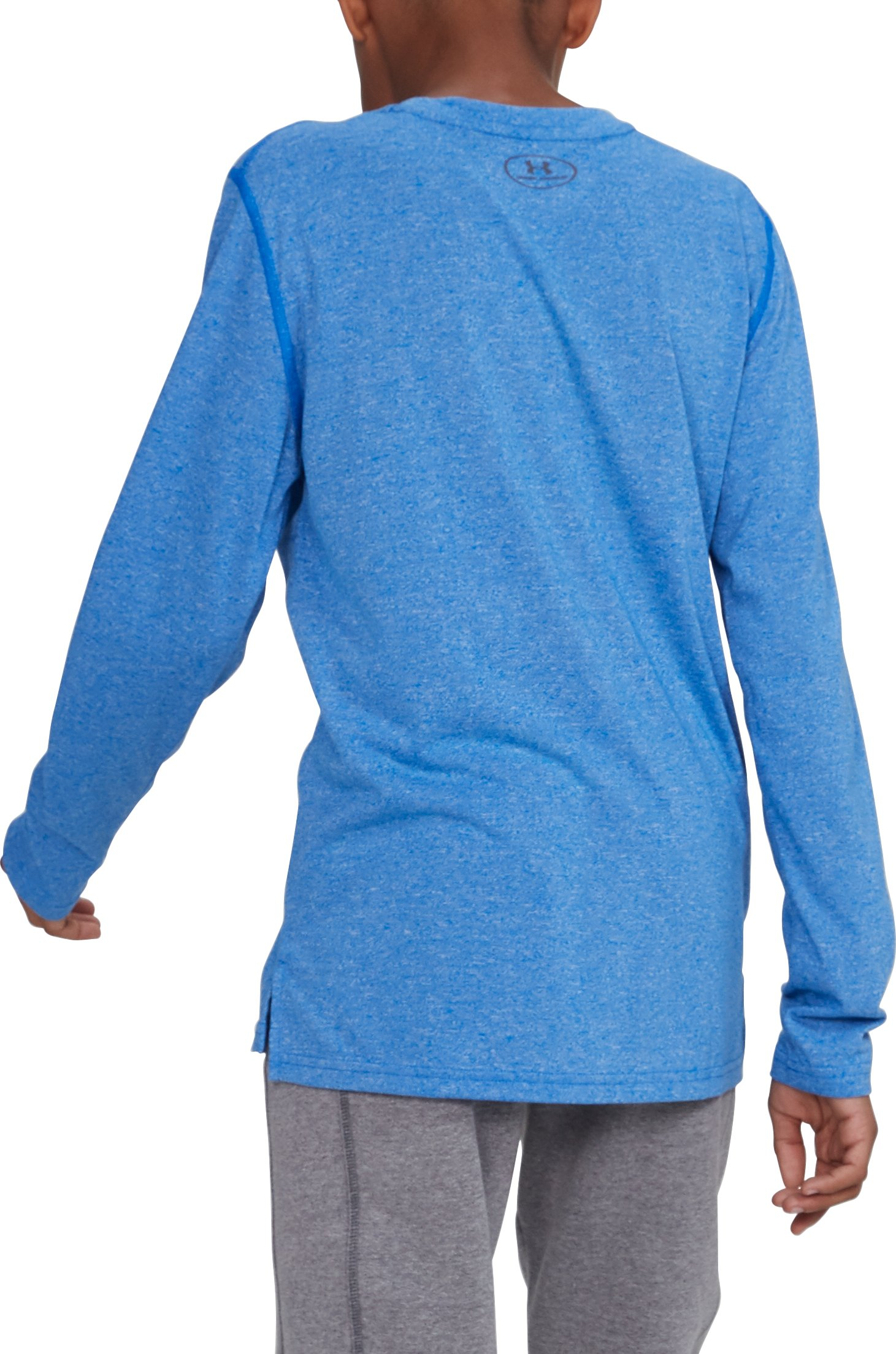 Boys' UA Threadborne™ Long Sleeve, ULTRA BLUE,