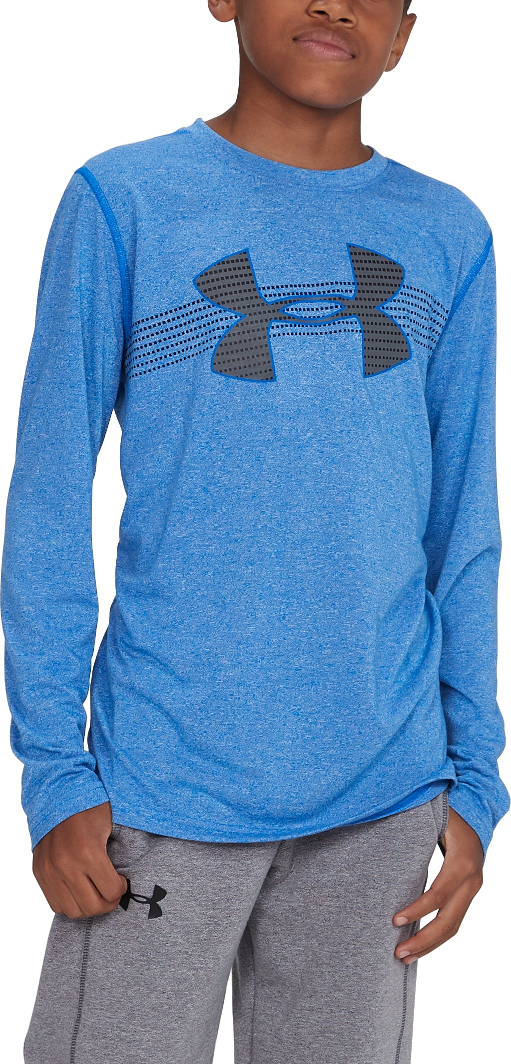 Boys' UA Threadborne™ Long Sleeve, ULTRA BLUE
