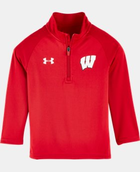 New Arrival Boys' Pre-School Wisconsin UA 1/4 Zip  1 Color $38