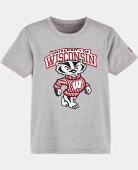 New Arrival Boys' Pre-School Wisconsin UA Badger Short Sleeve Shirt  1 Color $21