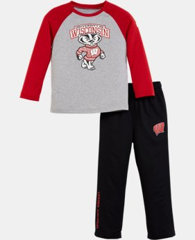 New Arrival Boys' Toddler Wisconsin UA Pants Set   $42