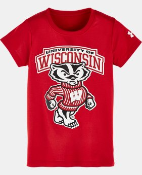 New Arrival Girls' Toddler Wisconsin Script T-Shirt  1 Color $21