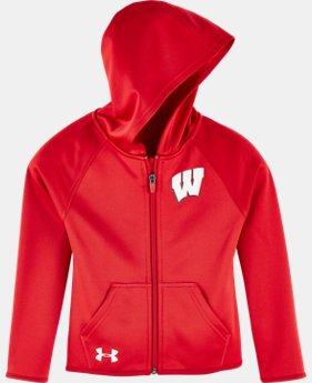 Girls' Pre-School UA Wisconsin Hoodie  1 Color $26.24