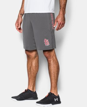 New to Outlet Men's St. Louis Cardinals UA Raid Shorts  1 Color $27.99