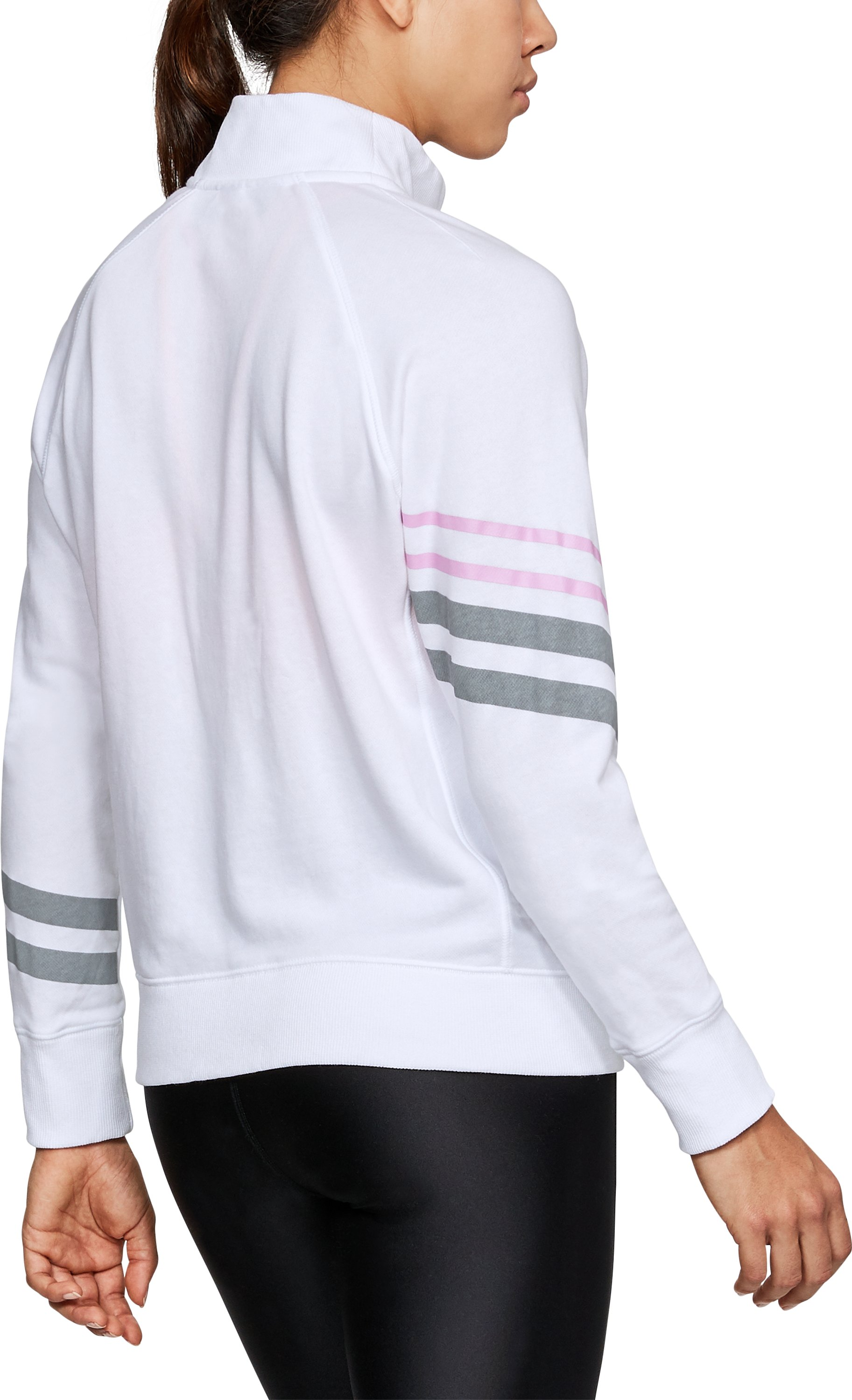 Women's UA French Terry Warm-Up Jacket, White, undefined