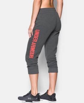 Women's UA Favorite Fleece Capri Wordmark Graphic  1 Color $44.99