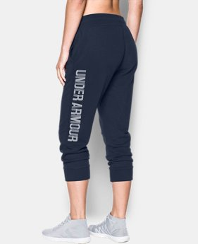 Women's UA Favorite Fleece Capri Wordmark Graphic  1  Color $26.99 to $33.99