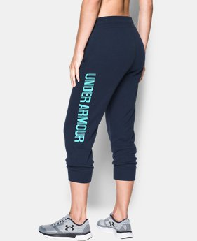 Women's UA Favorite Fleece Capri Wordmark Graphic  4 Colors $44.99
