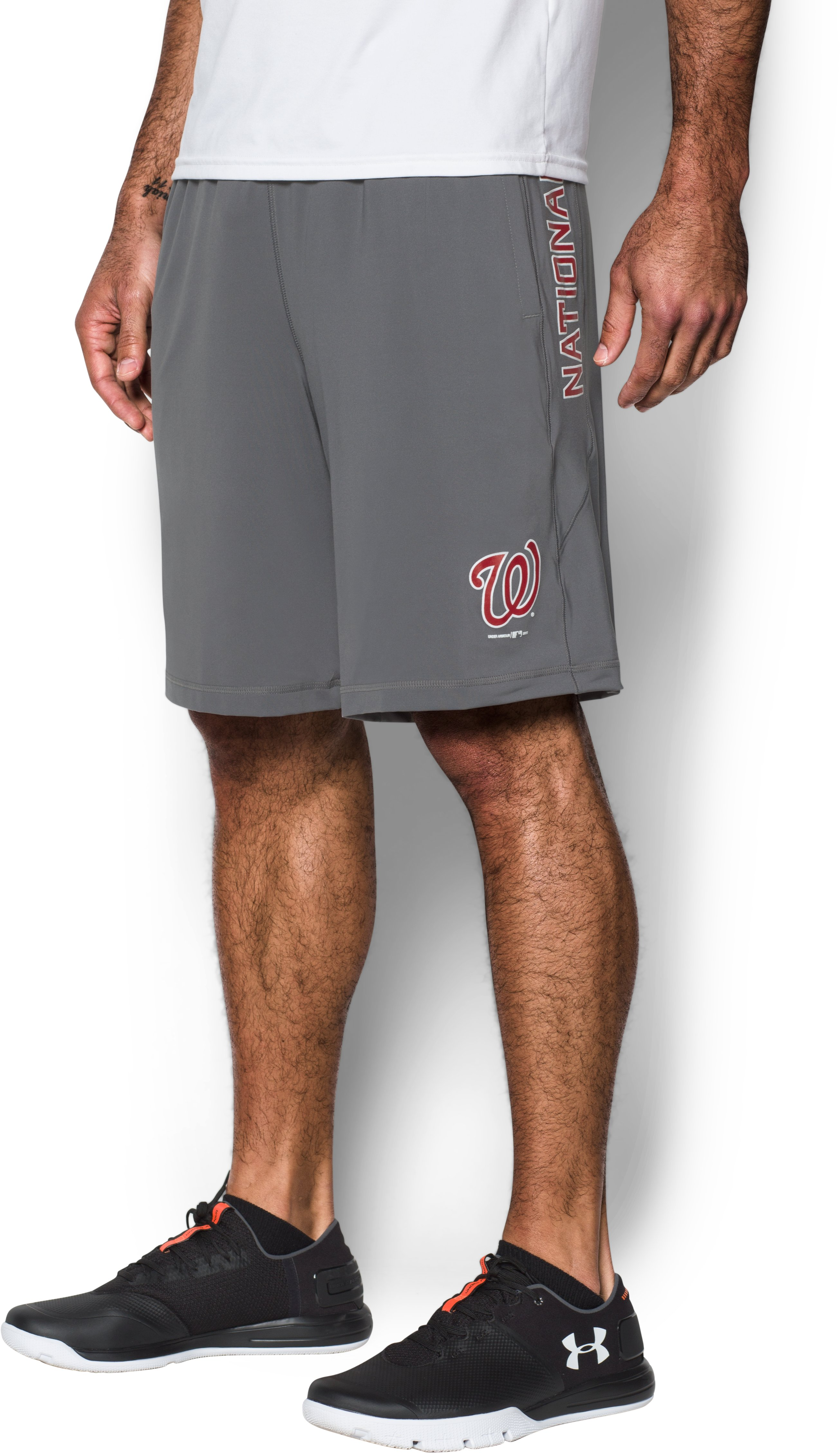Men's Nationals UA Raid Shorts, Graphite, zoomed image