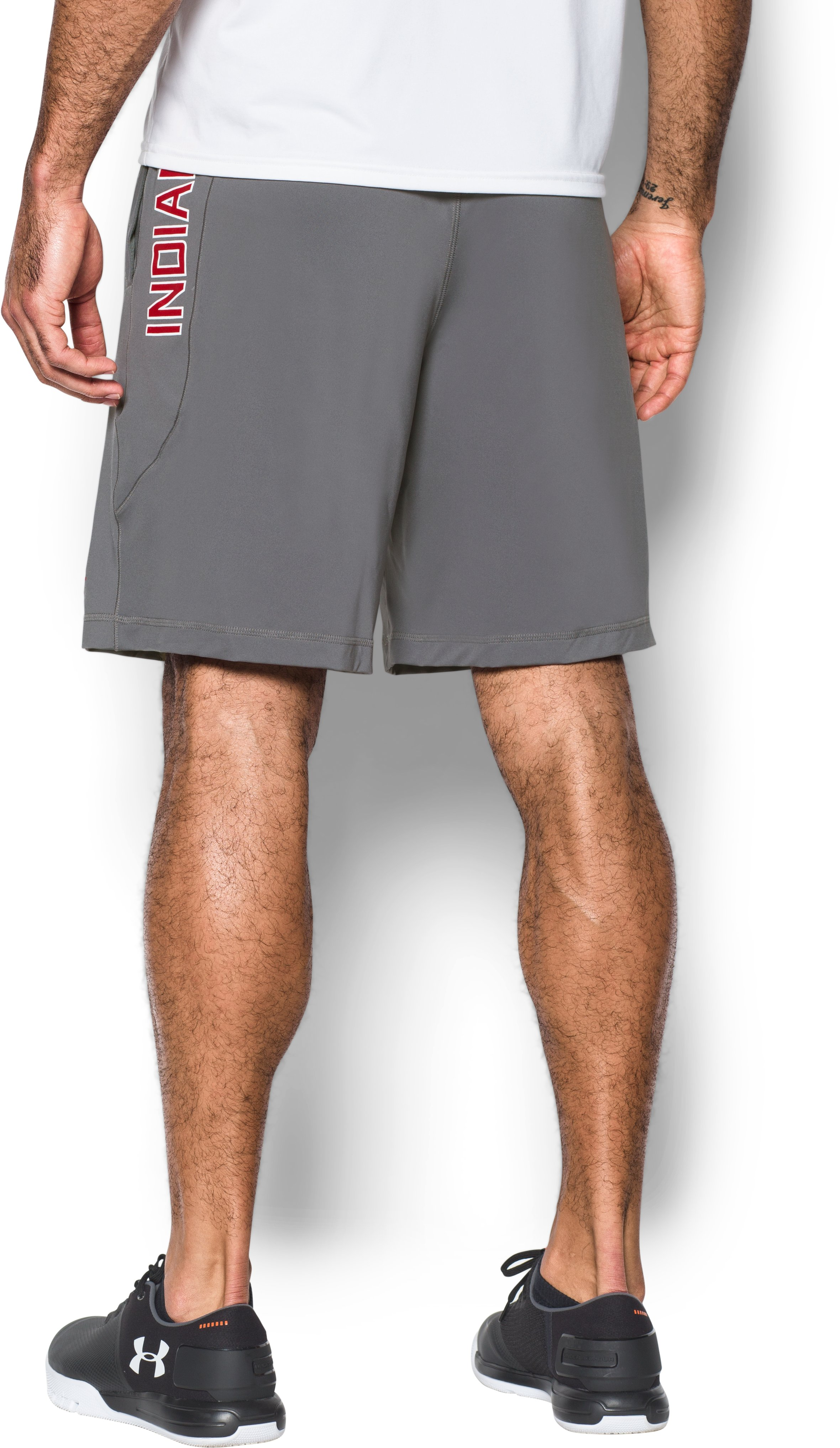 Men's Cleveland Indians UA Raid Shorts, Graphite, undefined