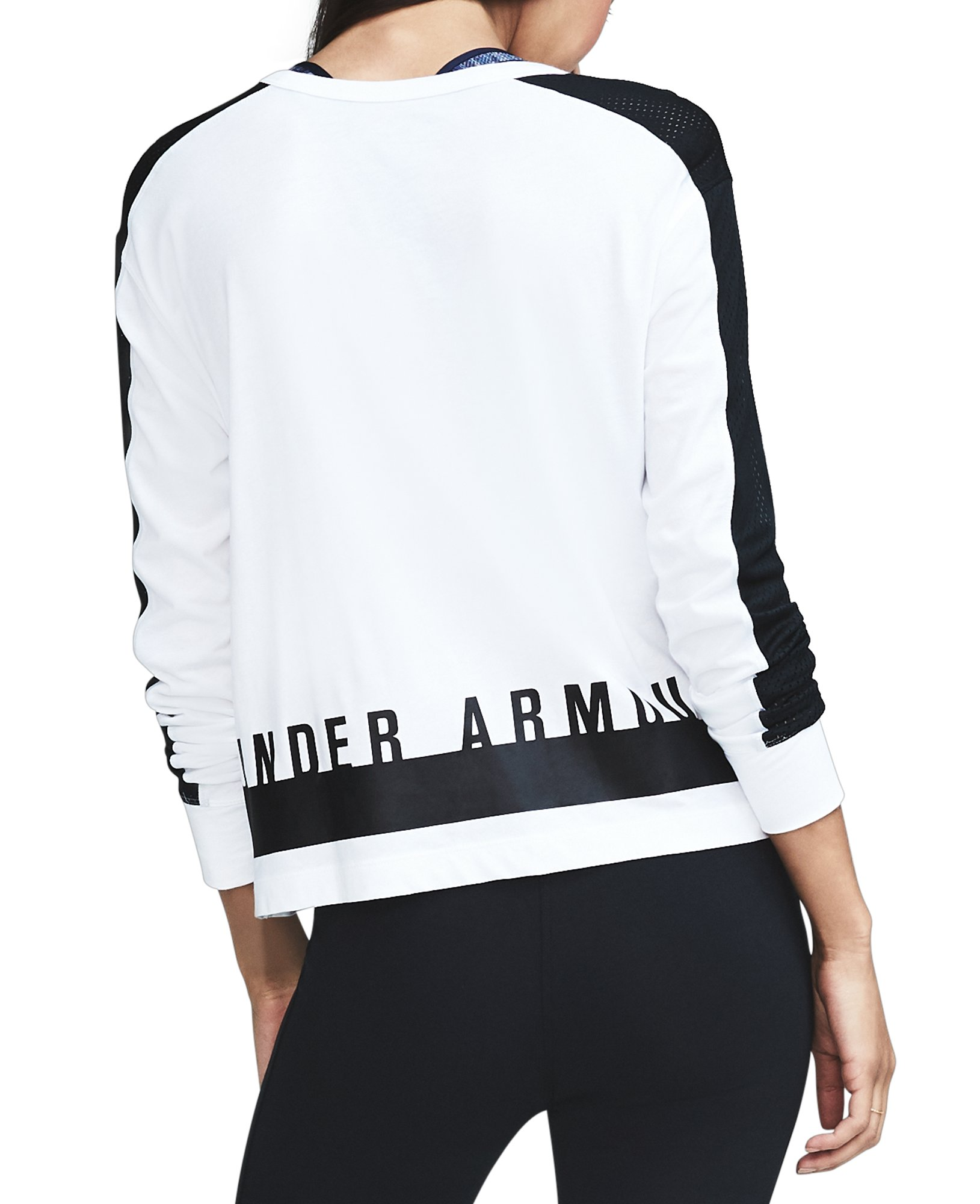 Women's UA Favorite Mesh Graphic Long Sleeve  , White, undefined