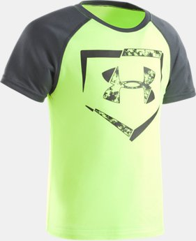 Boys' Pre-School UA Home Plate Logo Raglan Short Sleeve T-Shirt  1 Color $19.99