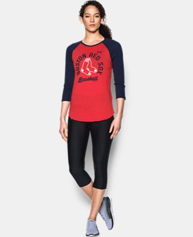 New Arrival Women's Boston Red Sox 3/4 Sleeve T-Shirt  1 Color $34.99