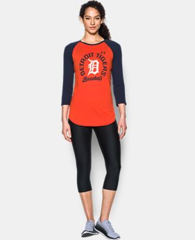 New Arrival Women's Detroit Tigers 3/4 Sleeve T-Shirt Women's Pittsburgh Pirates 3/4 Sleeve T-Shirt  1 Color $34.99