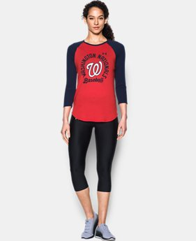 New Arrival Women's Washington Nationals 3/4 Sleeve T-Shirt  1 Color $34.99