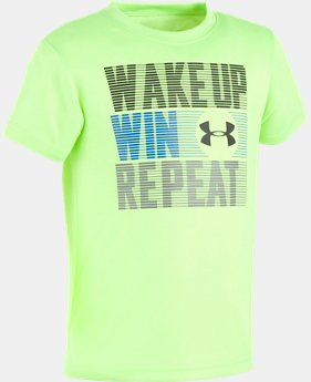 Boys' Toddler UA Wake Up Win Repeat Short Sleeve Shirt  1 Color $21.99