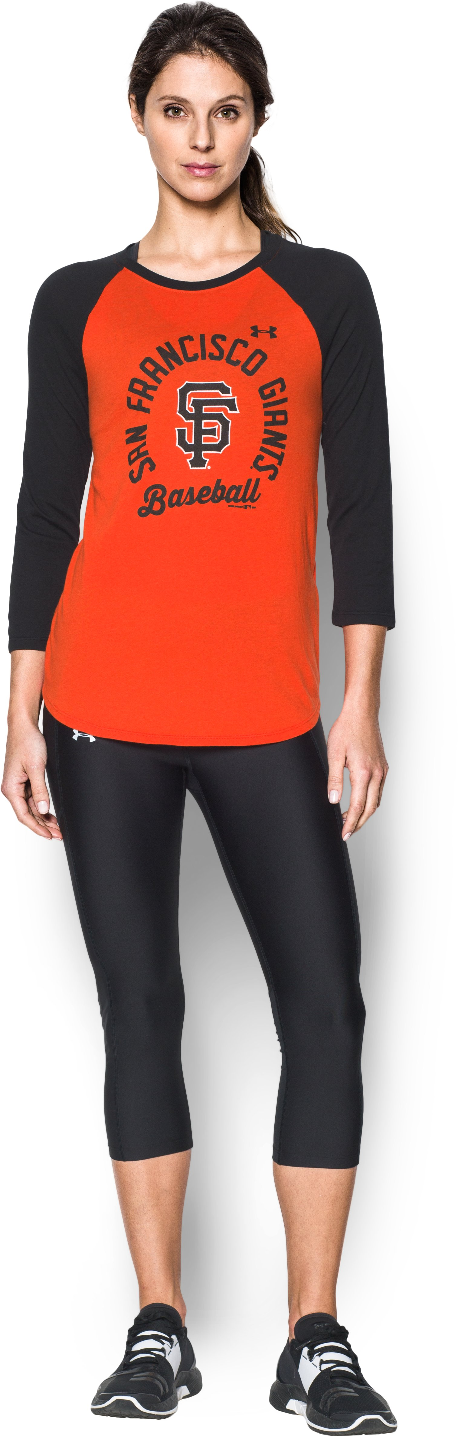 Women's San Francisco Giants ¾ Sleeve T-Shirt, Dark Orange