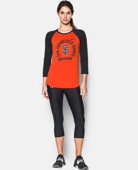 Women's San Francisco Giants 3/4 Sleeve T-Shirt  1 Color $34.99