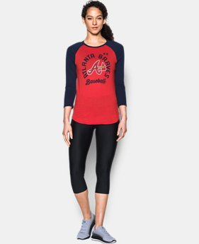 New Arrival Women's Atlanta Braves 3/4 Sleeve T-Shirt  1 Color $34.99