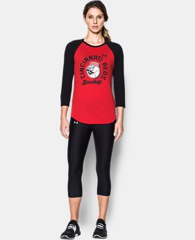 Women's Cincinnati Reds ¾ Sleeve T-Shirt  1 Color $34.99