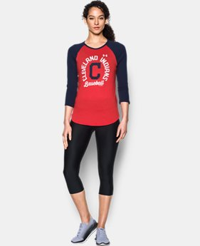 New Arrival Women's Cleveland Indians 3/4 Sleeve T-Shirt  1 Color $34.99