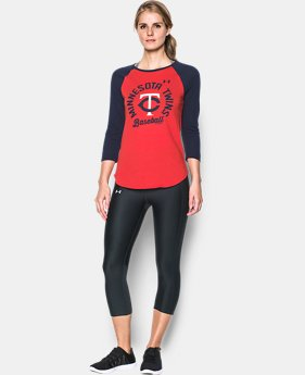 New Arrival Women's Minnesota Twins 3/4 Sleeve T-Shirt  1 Color $34.99
