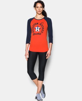 Women's Houston Astros 3/4 Sleeve T-Shirt  1 Color $34.99