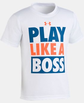 Boys' Pre-School UA Play Like A Boss Short Sleeve Shirt  1  Color Available $18
