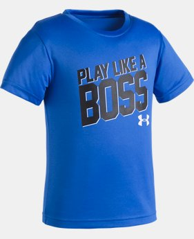 Boys' Pre-School UA Play Like A Boss Short Sleeve Shirt  1 Color $17.99