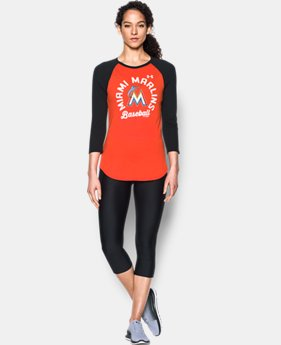 Women's Miami Marlins 3/4 Sleeve T-Shirt  1 Color $34.99