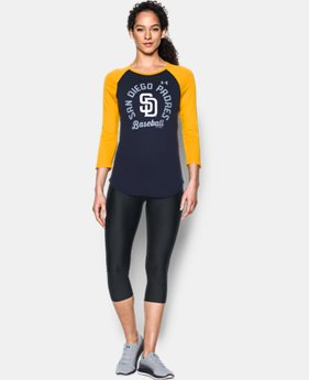 New Arrival Women's San Diego Padres 3/4 Sleeve T-Shirt  1 Color $34.99