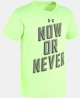 Boys' Pre-School UA Now Or Never Short Sleeve Shirt  1 Color $10.49