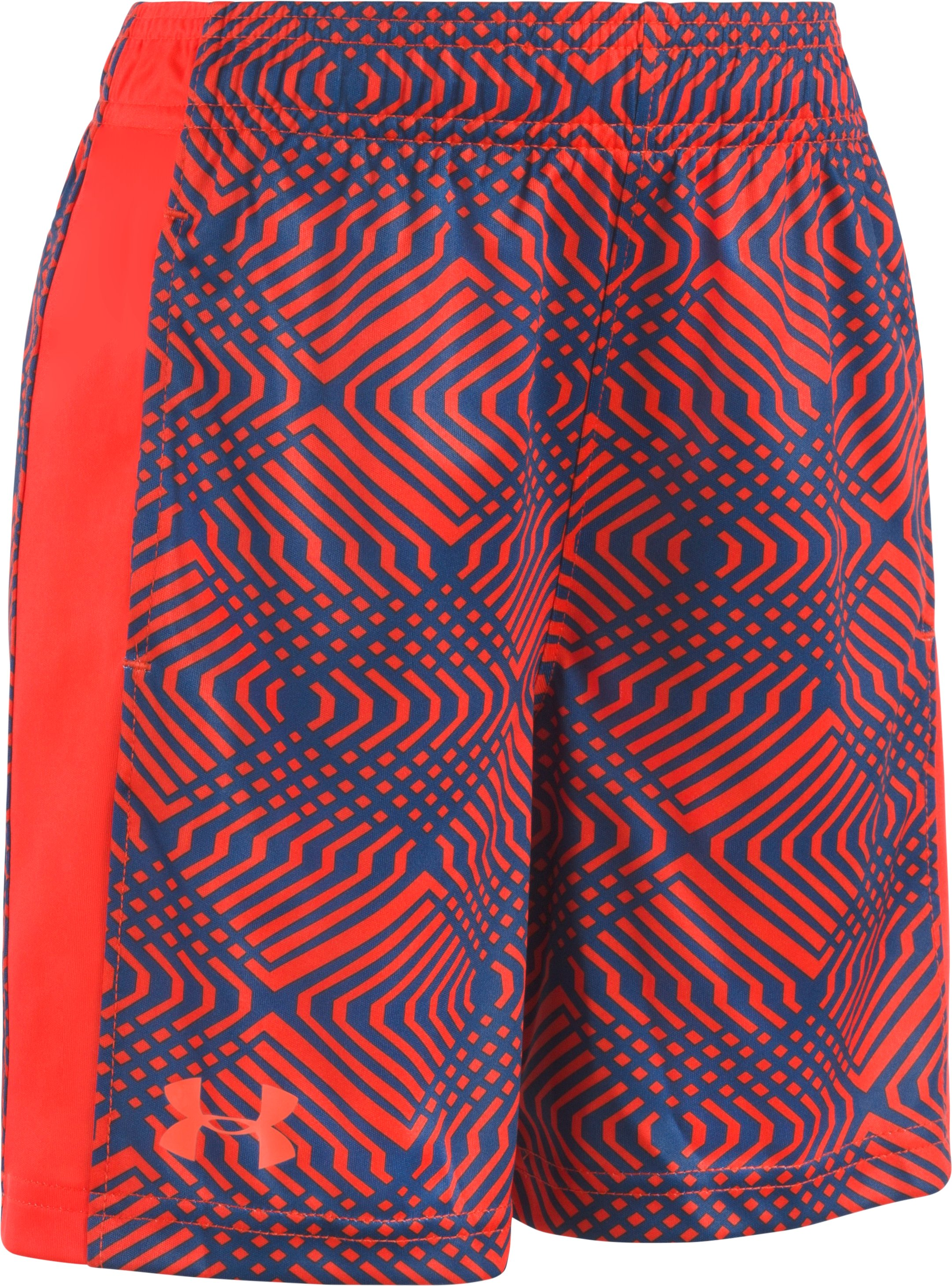 Boys' Toddler UA Midtown Grid Eliminator Shorts, Dark Orange