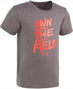 Boys' Pre-School UA Own The Field Short Sleeve Shirt  1 Color $10.49