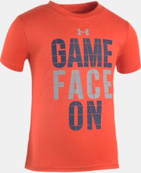 Boys' Pre-School UA Game Face On Short Sleeve Shirt  1  Color Available $17.99