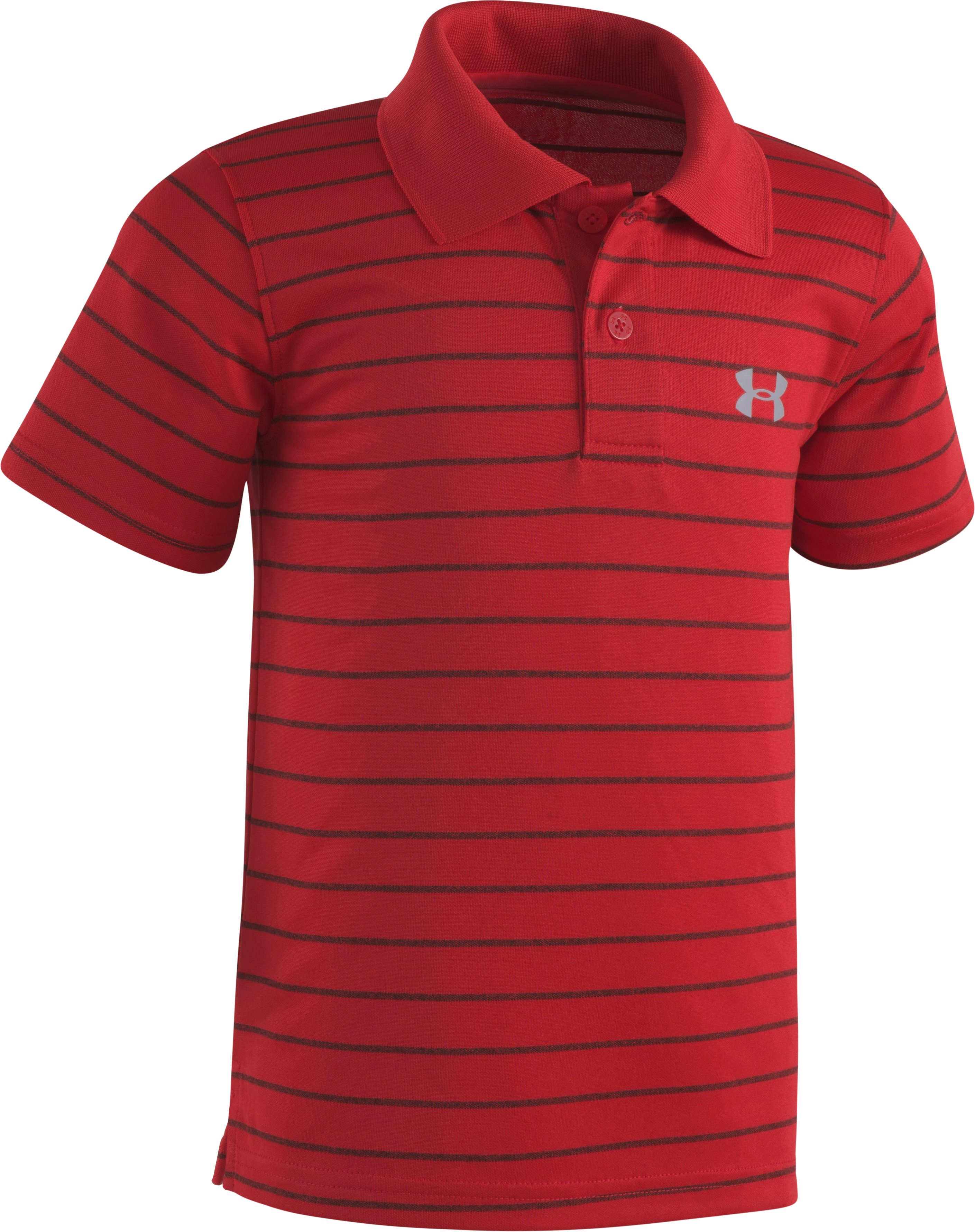 GAME STRIPE YD POLO 2T-4T, Red, zoomed
