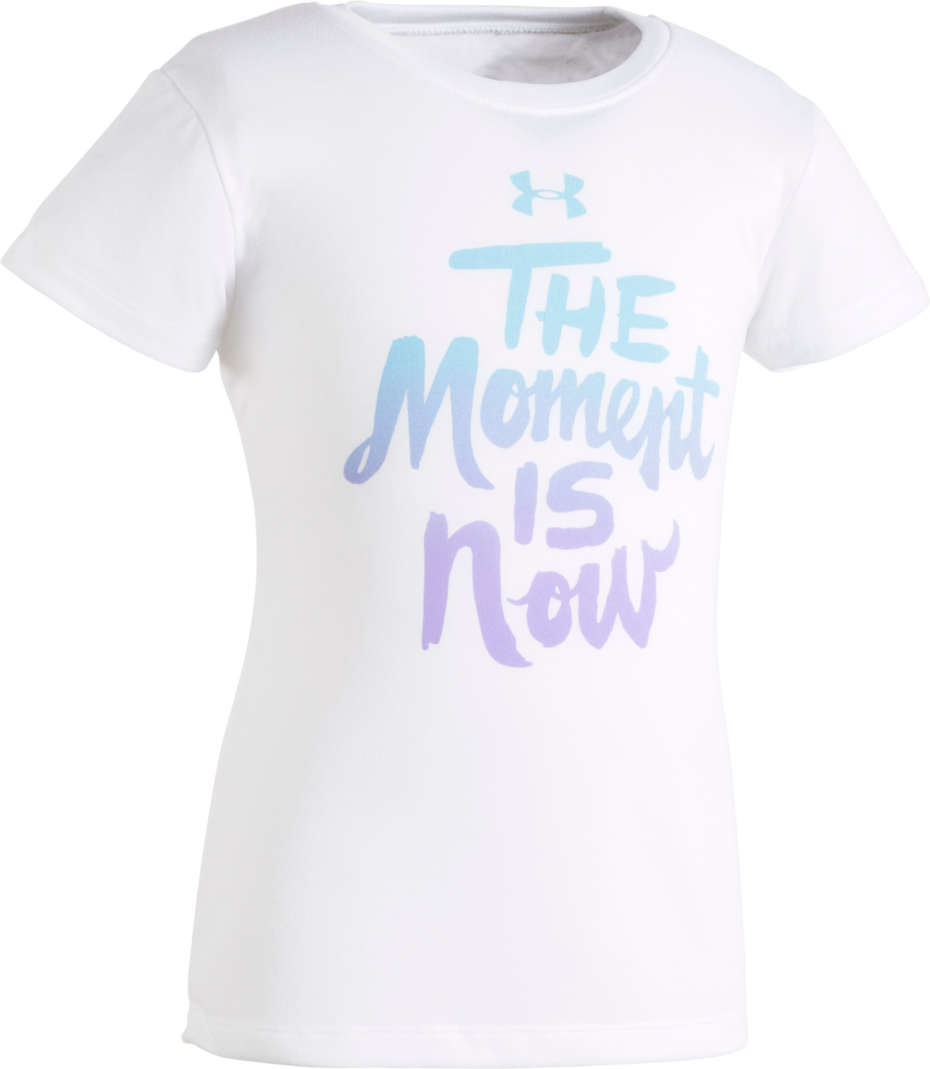 Girls' Toddler UA The Moment Is Now T-Shirt, White, zoomed image