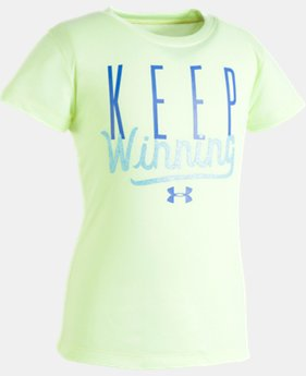 Girls' Toddler UA Keep Winning T-Shirt  2 Colors $13.99