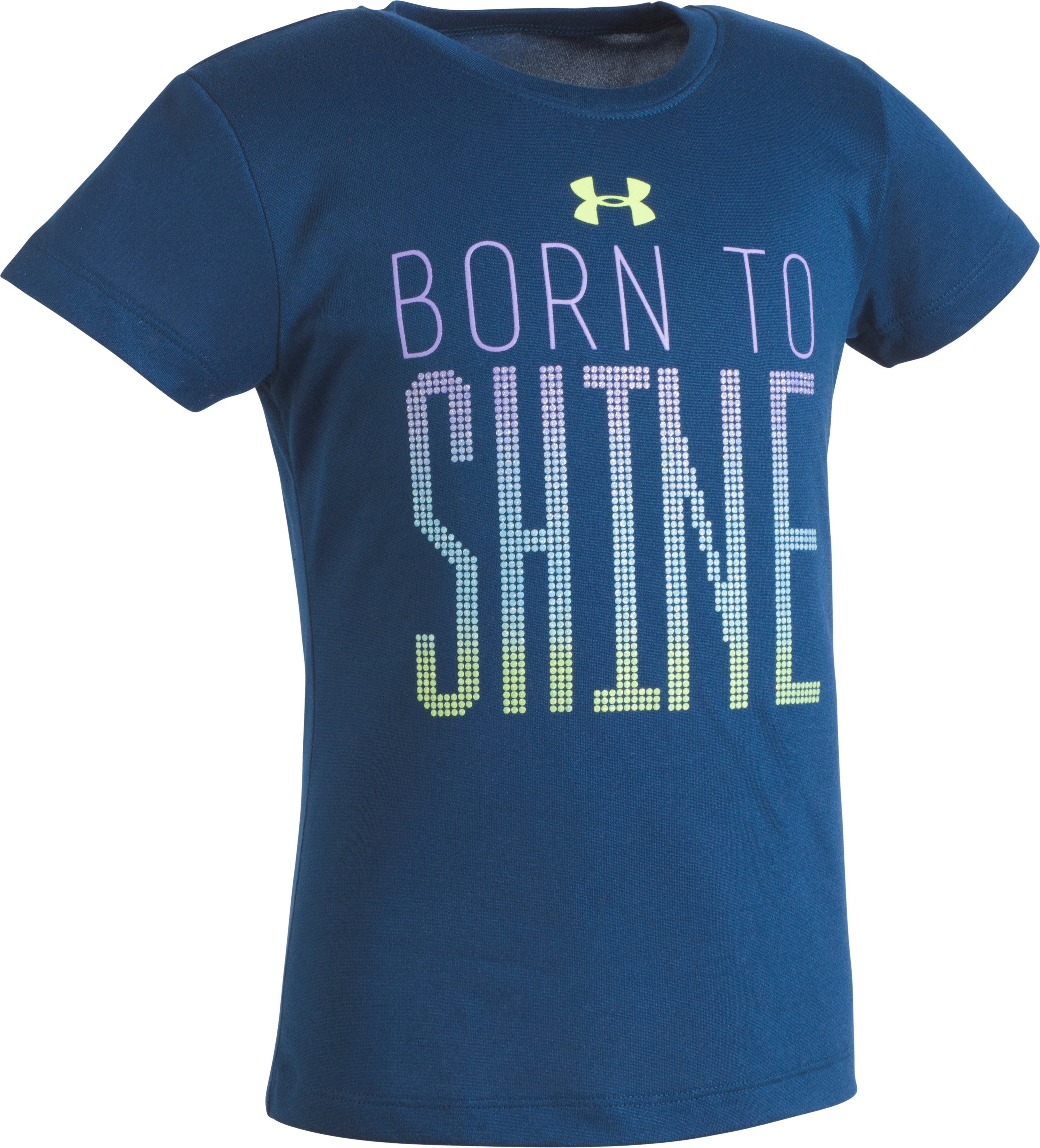 Girls' Toddler UA Born To Shine T-Shirt, BLACKOUT NAVY, Laydown