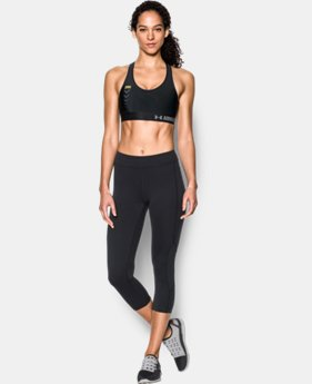 Women's UA + TRX® HeatGear® Armour Mid Solid Sports Bra  1 Color $25.49