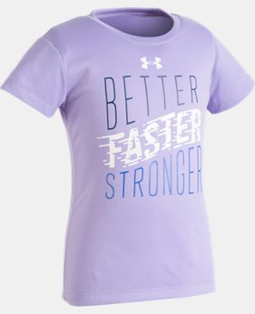 Girls' Toddler UA Better Faster T-Shirt   $10.49