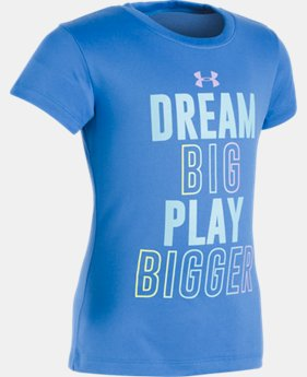 Girls' Pre-School UA Dream Big T-Shirt  1 Color $10.49