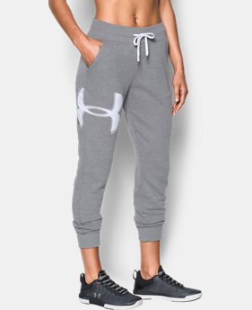 Women's UA Favorite Fleece Graphic Logo Pants  1  Color Available $38.99 to $48.74