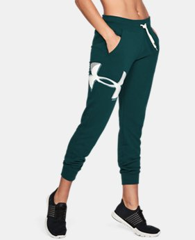 Women's UA Favorite Fleece Graphic Logo Pants  1  Color Available $37.49