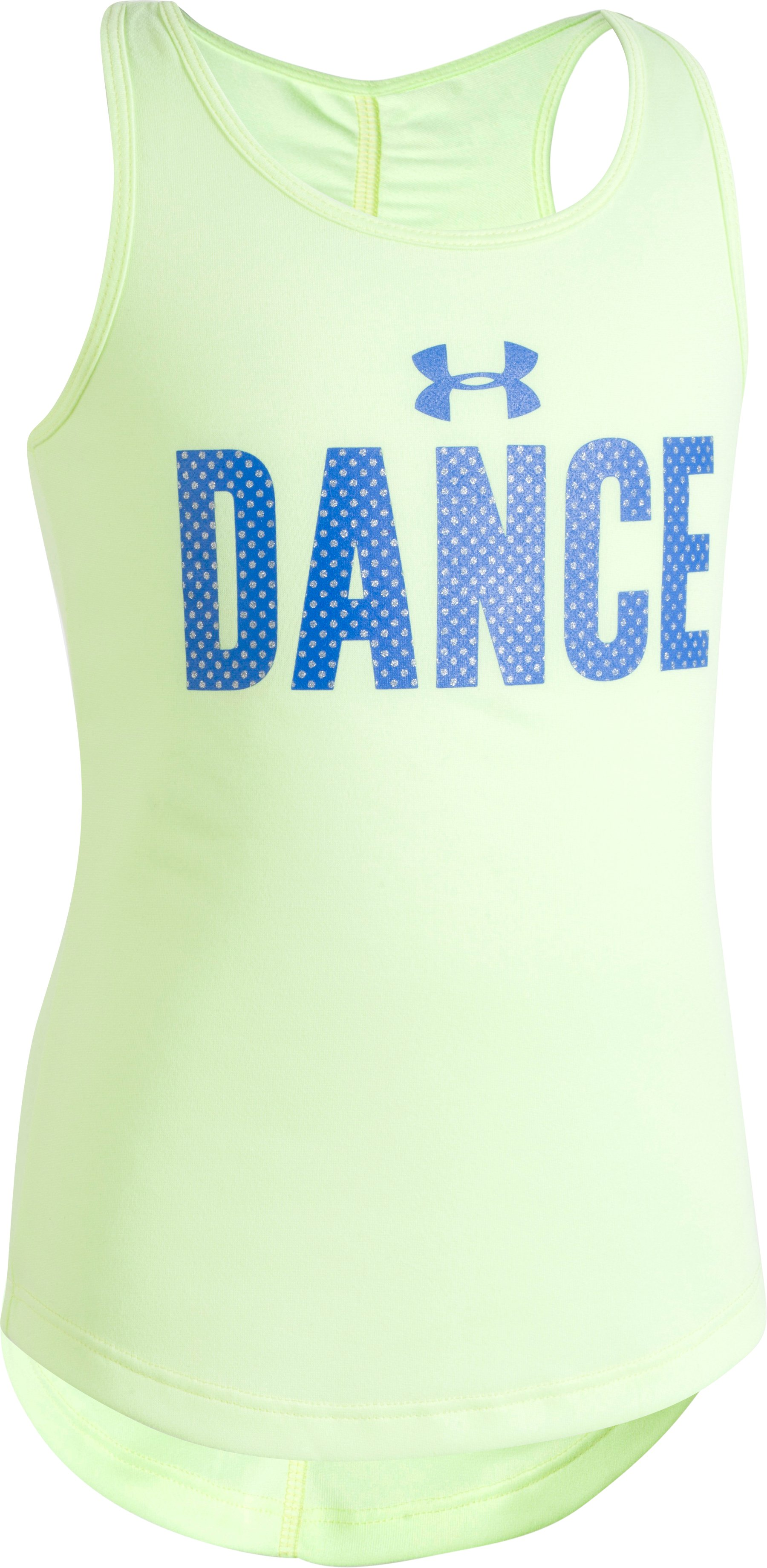 Girls' Pre-School UA Dance Tank, PALE MOONLIGHT, Laydown