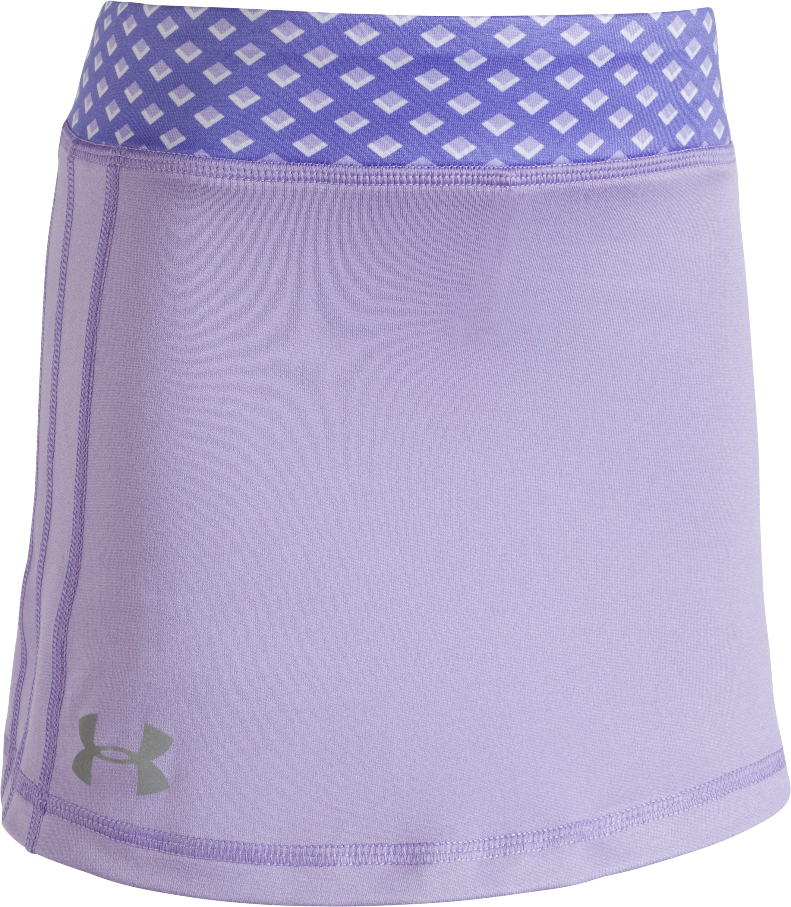 Girls' Pre-School UA Influx Play Up Skort, DARK LAVENDER, Laydown