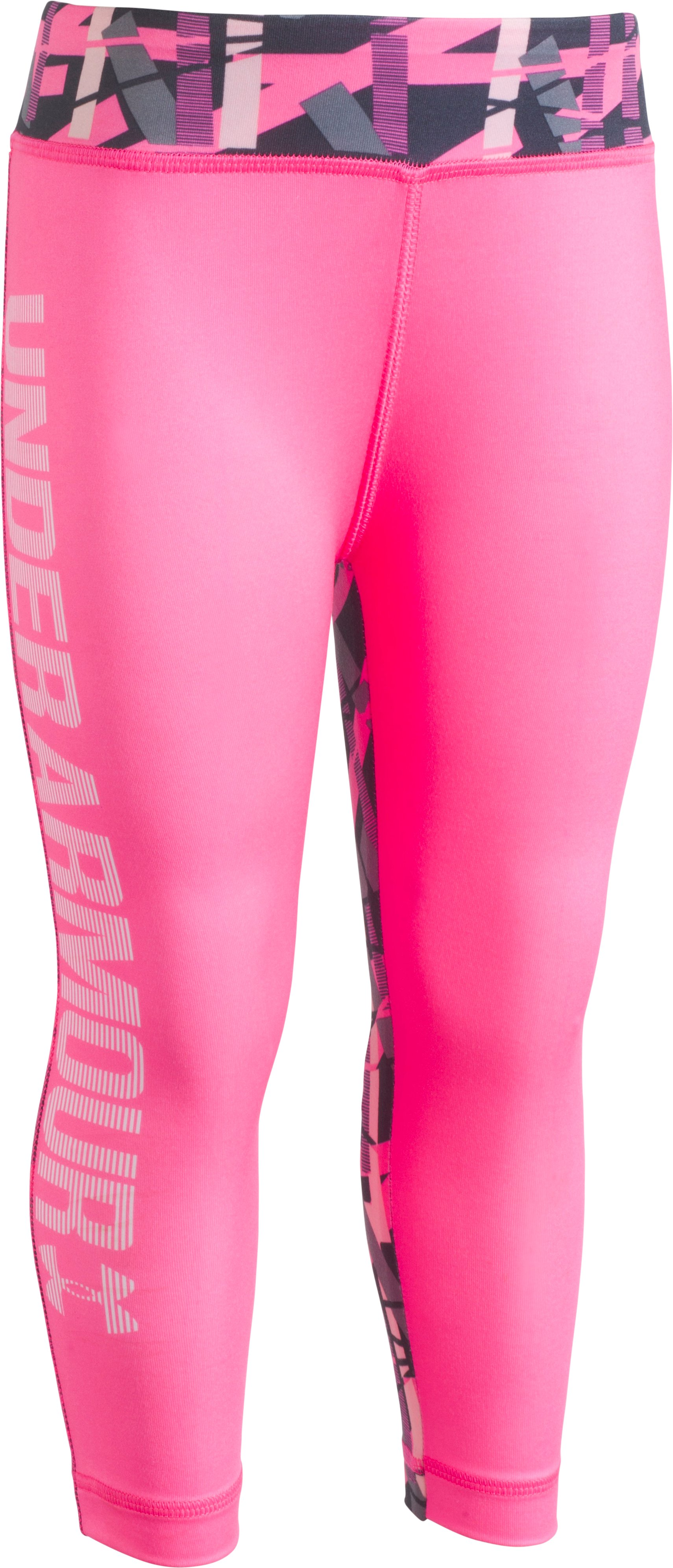 Girls' Infant UA Mix Master Capris, PINK PUNK, Laydown