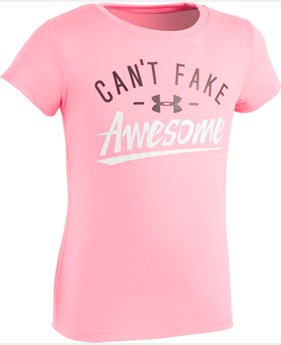 Girls' Pre-School UA Can't Fake Awesome T-Shirt  1 Color $17.99